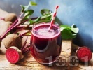 Рецепта Сок фреш от червено цвекло, моркови, ябълки, целина, джинджифил и лимон